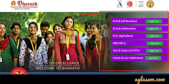 Bharath University 2021 application form