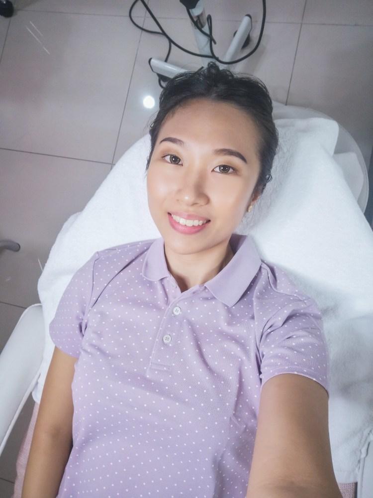 Selfie before the procedure