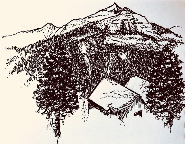 Scene of mountain sky resort