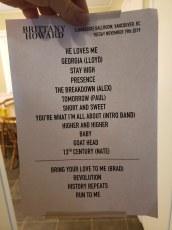 Brittany Howard @ The Commodore Ballroom – November 19th 2019 setlist