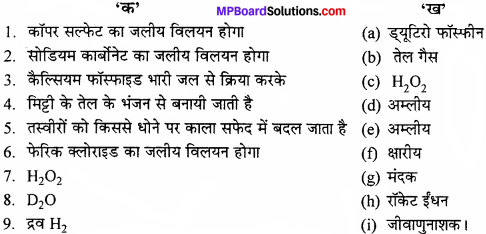 MP Board Class 11th Chemistry Solutions Chapter 9 हाइड्रोजन - 1