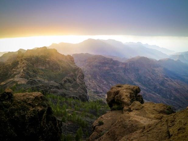 Vistas desde el Roque Nublo en Gran Canaria