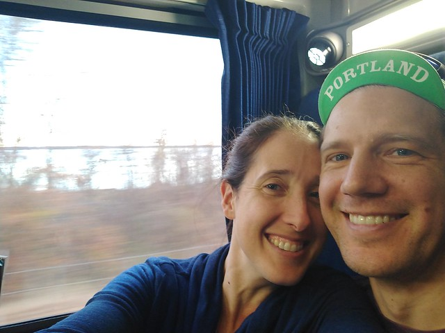 Wifey & I on the Amtrak Silver Star