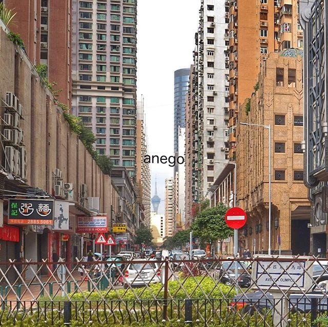 タイパビレッジから、ブラブラ歩いて、タイパのダウンタウンに入ったらしい。 目の前にあるのがマカオタワーじゃなかったら、香港というよりむしろ台北のどこかかな?って気がした。 そのポイントは騎楼、つまり歩道にビルが張り出していて、その下を歩けるようになってるところかな。 #マカオ旅行 #マカオ #マカオ観光 #騎楼 #騎楼建築