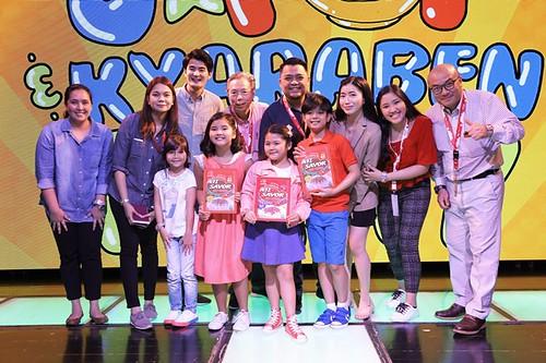 Ajinomoto Philippines Corporation's Marketing and Public Relations team along with AJI SAVOR™ endorsers, Sophia Reola, Chunsa Jung, Marco Masa and Kuya Sawa at KidZania Manila