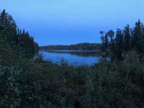 Rushing River - evening view of the lake