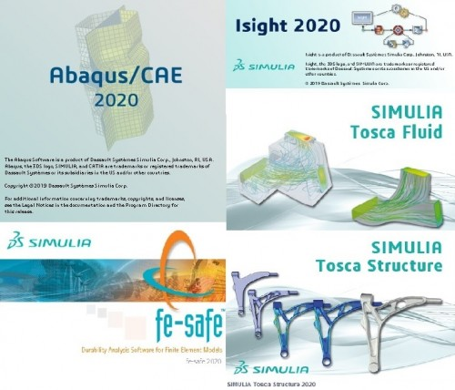 DS SIMULIA Suite 2020 (Abaqus-Isight-Fe-safe-Tosca) full