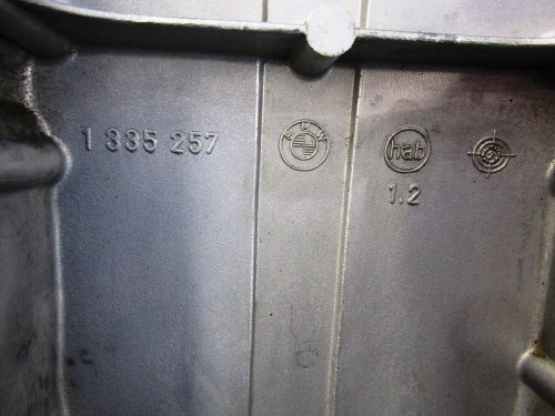 Front Engine Cover Casting Mark