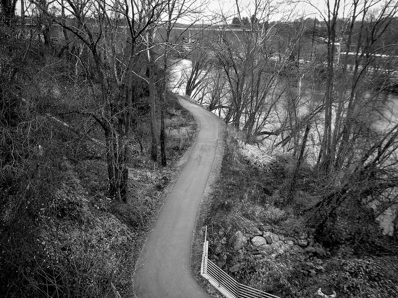 looking down, walkway, urban park, French Broad River, Asheville, NC, Panasonic Lumix DMC-ZS50, 11.29.19