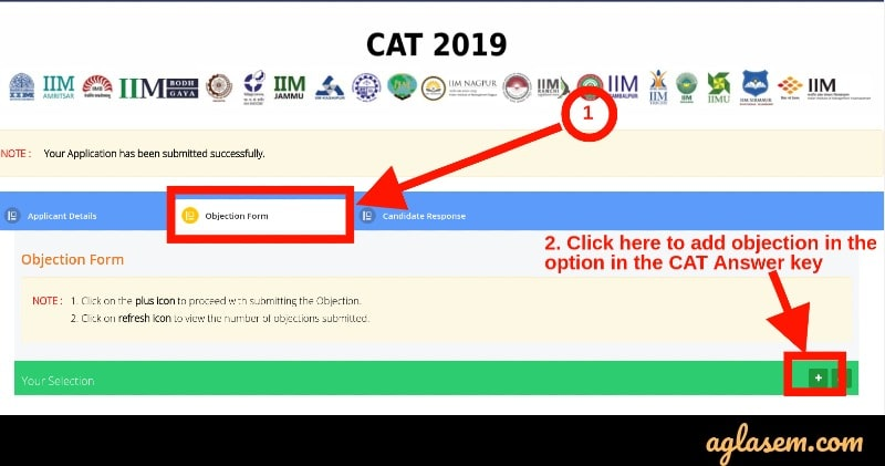 CAT 2020 answer key objection