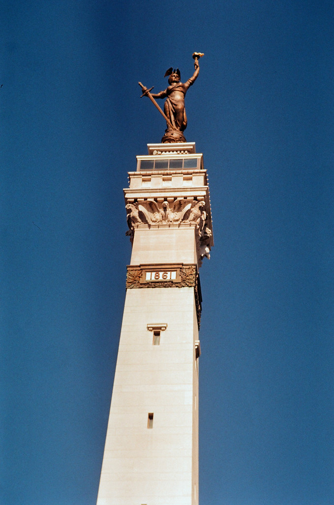 The top of the monument