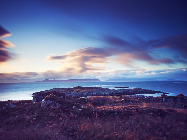 Looking towards Rum and Eigg from Arisaig