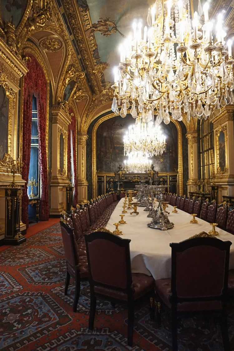 Inside Musée du Louvre: the Napoleon III Apartments dining room