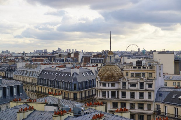 Paris rooftops, seen from the terace of Printemps Haussmann