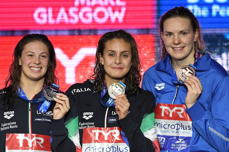 EuroSwim 2019 Glasgow | La rana azzurra brilla in Europa, Pellegrini d'argento