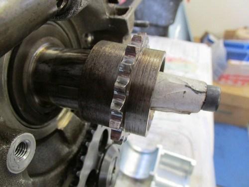Crankshaft Sprocket Orientation-Wide Shoulder Toward Engine Block