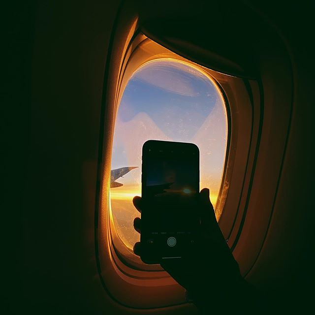 Day 1 - And so the journey begins - with a beautiful sunset from the airplane on the way to Dubai #airplane #sunset #outbackhorizon #window #seat #travel #dubai #brussels #wanderlust #travelphotography #shotoniphone #colours #horizon #sunsetlove #photogra