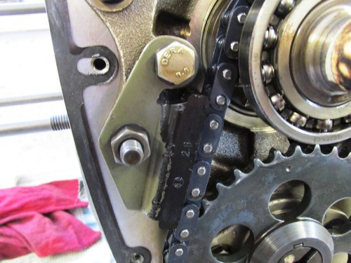 Left Side Timing Chain Slider Detail