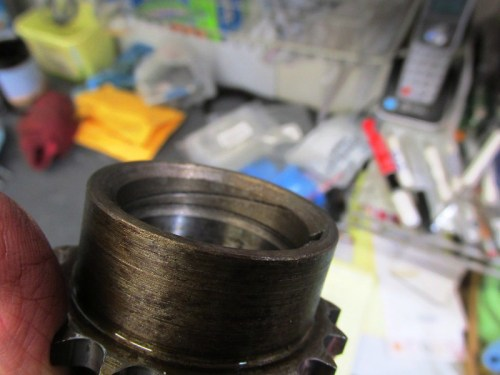 Spiral Groove Inside Crankshaft Timing Sprocket
