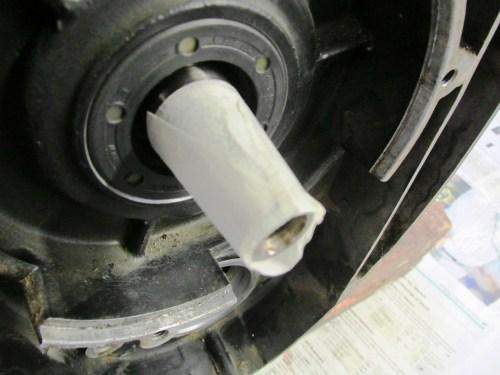 Masking Tape To Protect Crankshaft Taper