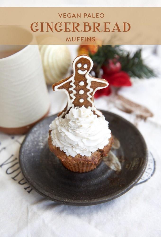 Gingerbread Muffins (Paleo Vegan)