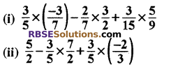 RBSE Solutions for Class 8 Maths Chapter 1 परिमेय संख्याएँ Ex 1.1 q6