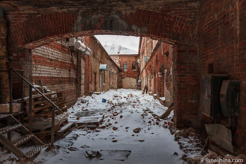 Двор в Рыбинске. Картинка для привлечения внимания