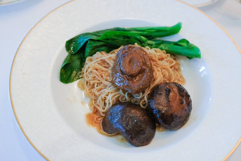 abalone noodles for breakfast in shangri-la singapore valley wing