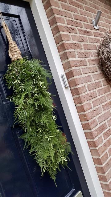 Kerst toef voordeur landelijk