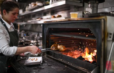 Squab in the Josper.