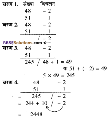 RBSE Solutions for Class 8 Maths Chapter 5 वैदिक गणित Ex 5.1 Q2