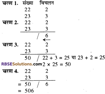 RBSE Solutions for Class 8 Maths Chapter 5 वैदिक गणित Additional Questions 2E