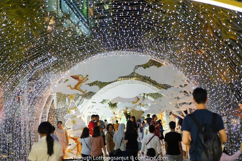 อุโมงค์ ถ่ายไฟคริสต์มาส ถ่ายไฟปีใหม่ 2020 - Paragon พารากอน