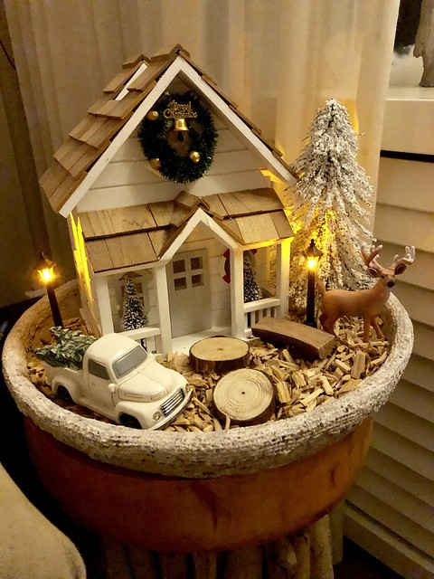 Riviera Maison kersthuisje hertje kerstboom
