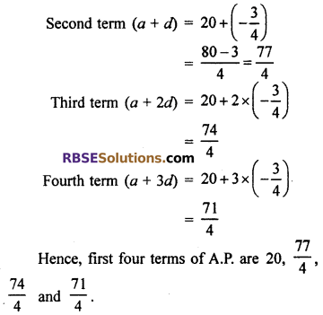 RBSE Solutions for Class 10 Maths Chapter 5 Arithmetic Progression Ex 5.1 2