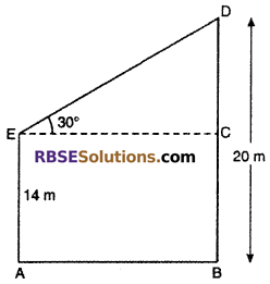 RBSE Solutions for Class 10 Maths Chapter 8 Height and Distance Miscellaneous Exercise 7