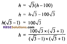 RBSE Solutions for Class 10 Maths Chapter 8 Height and Distance Additional Questions 46