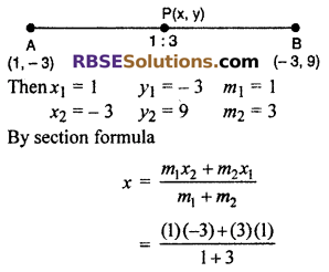RBSE Solutions for Class 10 Maths Chapter 9 Co-ordinate Geometry Ex 9.2 3