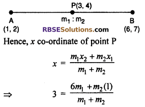 RBSE Solutions for Class 10 Maths Chapter 9 Co-ordinate Geometry Miscellaneous Exercise 12