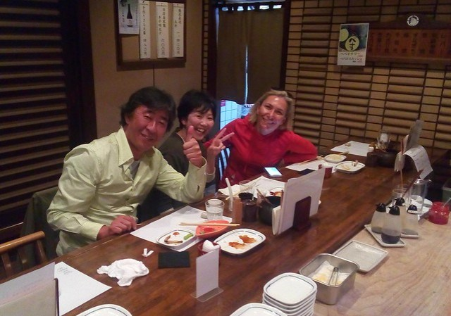 Sanji, Yumi, Ferda -- we all enjoyed our evening at the izakaya by bryandkeith on flickr