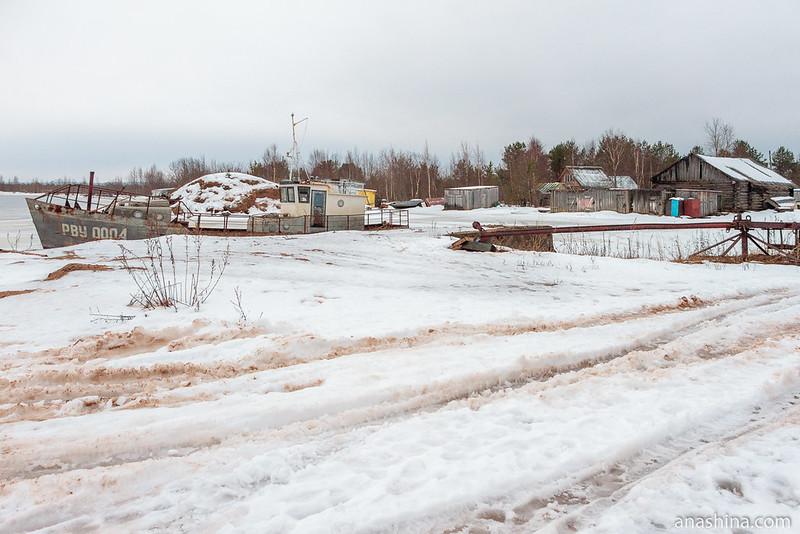 Деревня Озерное Устье, Вытегорский район, река Андома