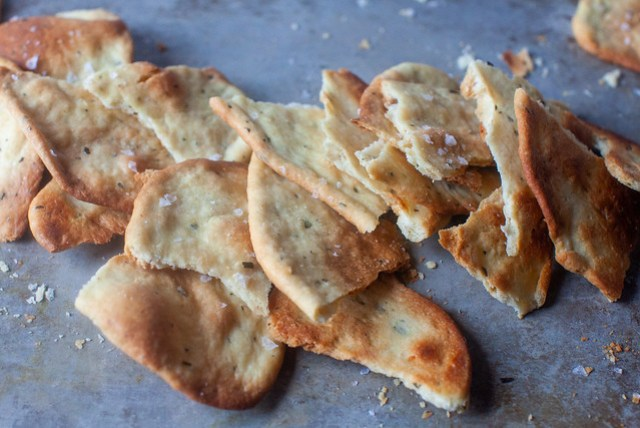 crisp rosemary flatbread