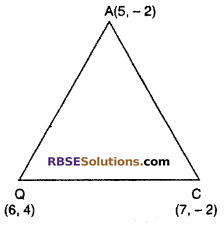 RBSE Solutions for Class 10 Maths Chapter 9 Co-ordinate Geometry Additional Questions 20