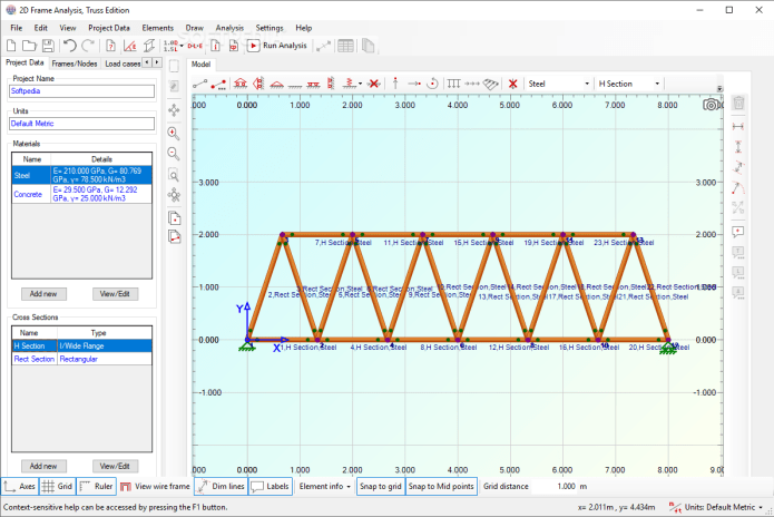 Working with Engissol 2D Frame Analysis 4.9 full license