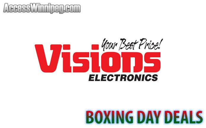 Visions Electronics Boxing Day Deals 2019