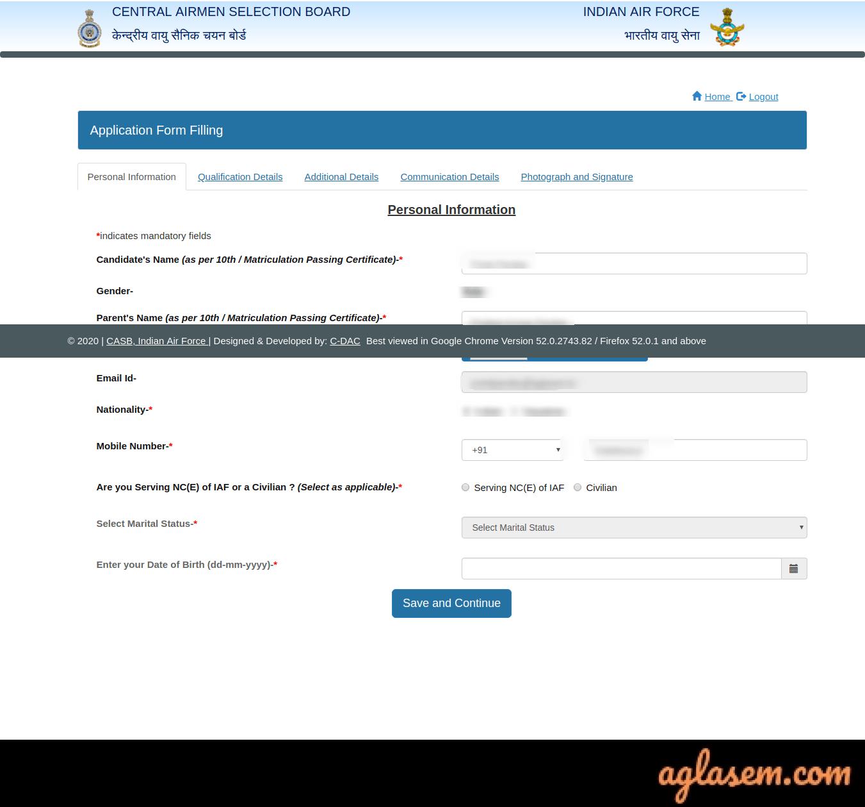 Indian Air Force Airmen Registration 01/2022