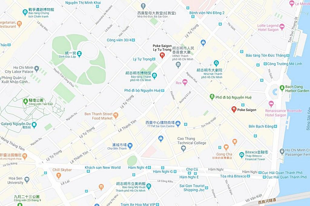 Poke Saigon Map