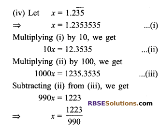RBSE Solutions for Class 9 Maths Chapter 2 Number System Ex 2.1 10