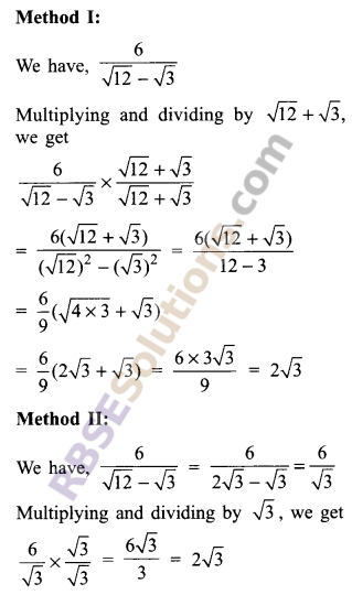 RBSE Solutions for Class 9 Maths Chapter 2 Number System Additional Questions 18