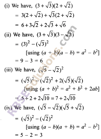 RBSE Solutions for Class 9 Maths Chapter 2 Number System Additional Questions 6